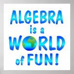 Diversión de la álgebra impresiones