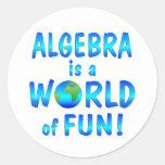 Diversión de la álgebra pegatinas redondas