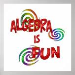 Diversión de la álgebra posters