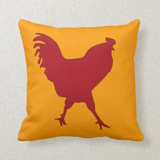 Diversión de la almohada de tiro del gallo y color