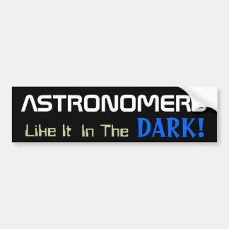 Diversión de la astronomía pegatina de parachoque