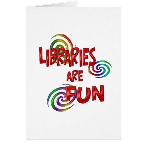 Diversión de la biblioteca felicitación