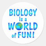 Diversión de la biología etiquetas redondas