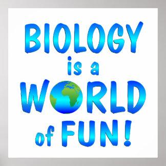 Diversión de la biología póster