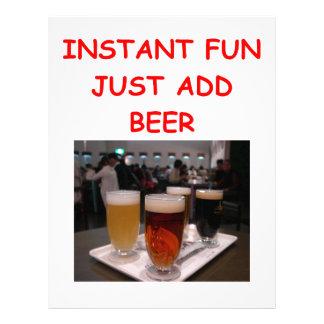 diversión de la cerveza membrete personalizado