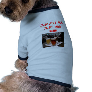 diversión de la cerveza camiseta de perrito