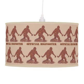 Diversión de la criatura de Bigfoot Sasquatch Yeti Lámpara De Techo