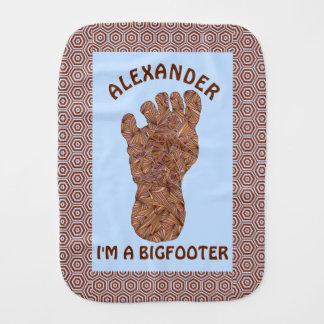 Diversión de la criatura de Bigfoot Sasquatch Yeti Paños Para Bebé