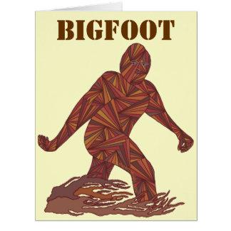 Diversión de la criatura de Bigfoot Sasquatch Yeti Tarjeta De Felicitación Grande