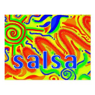 Diversión de la danza de la salsa - postal