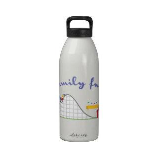 Diversión de la familia botella de agua reutilizable