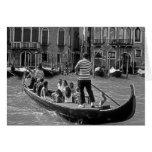 Diversión de la familia de Italia Venecia Tarjeta