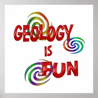 Diversión de la geología poster