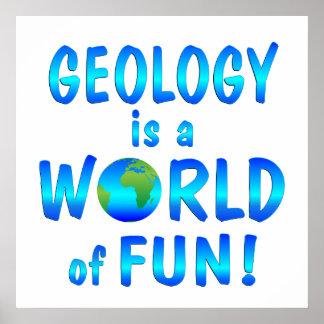 Diversión de la geología posters
