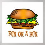 Diversión de la hamburguesa impresiones