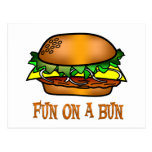 Diversión de la hamburguesa postales