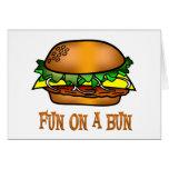 Diversión de la hamburguesa tarjeta