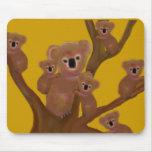 Diversión de la koala alfombrillas de ratones