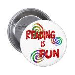 Diversión de la lectura pin