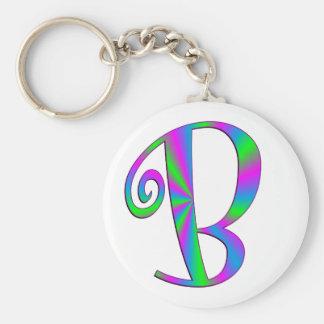 Diversión de la letra B del monograma Llavero