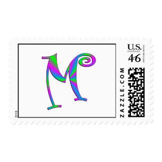 Diversión de la letra M del monograma