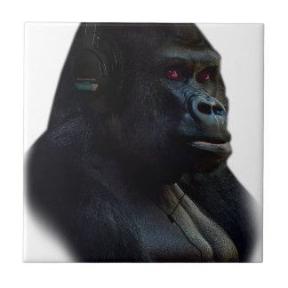 Diversión de la música del mono del mono azulejo cuadrado pequeño