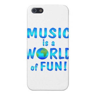 Diversión de la música iPhone 5 carcasas