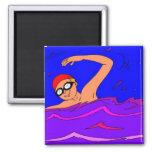 Diversión de la natación iman de frigorífico