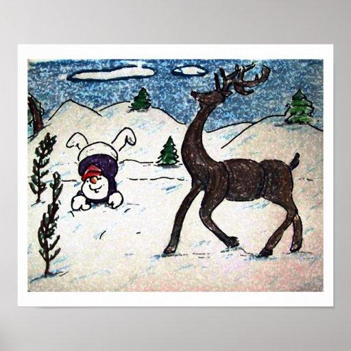 Diversión de la nieve poster