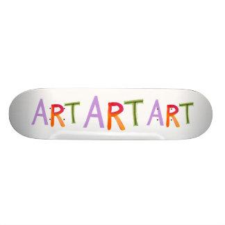 Diversión de la palabra del arte colorida - para l tabla de skate