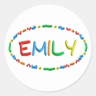 Diversión de la pasta de Emily Pegatina Redonda