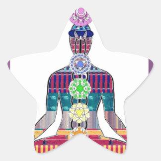 DIVERSIÓN de la paz NVN630 de la meditación de la Pegatina En Forma De Estrella