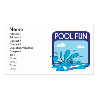 Diversión de la piscina tarjetas de visita