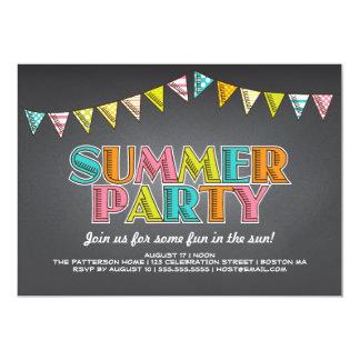 Diversión de la pizarra del fiesta del verano en invitación 12,7 x 17,8 cm