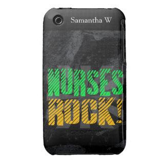 Diversión de la roca de las enfermeras, anaranjada Case-Mate iPhone 3 fundas