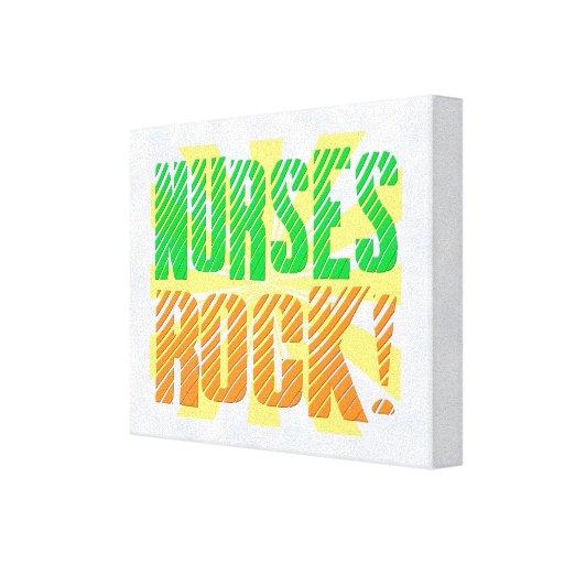 Diversión de la roca de las enfermeras, anaranjada impresiones en lona estiradas