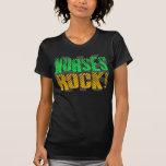 Diversión de la roca de las enfermeras, anaranjada camiseta