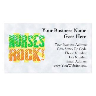 Diversión de la roca de las enfermeras, anaranjada tarjeta personal