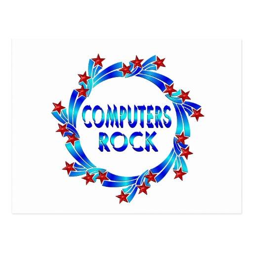 Diversión de la roca de los ordenadores postal