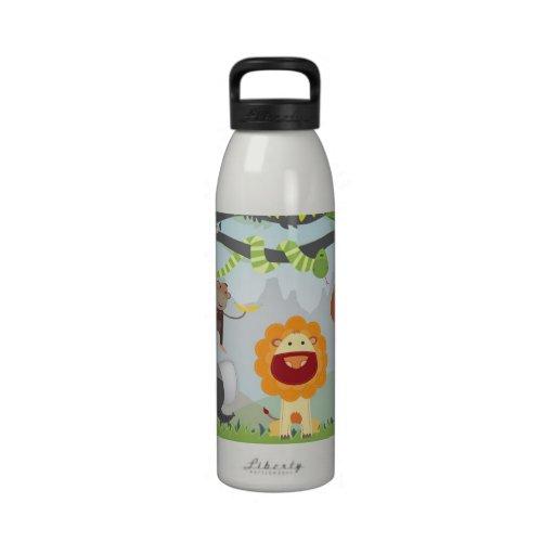 Diversión de la selva botella de agua reutilizable