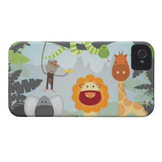 Diversión de la selva iPhone 4 Case-Mate protectores