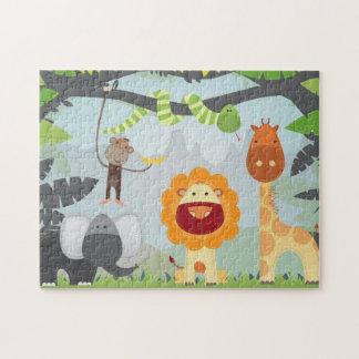 Diversión de la selva puzzles con fotos