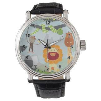 Diversión de la selva reloj de mano