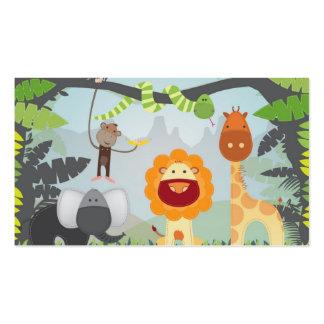 Diversión de la selva tarjetas de visita