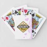diversión de la señal de peligro del amarillo del  baraja de cartas