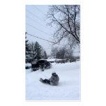 diversión de la tormenta de la nieve tarjeta de visita