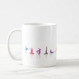 diversión de la yoga taza de café