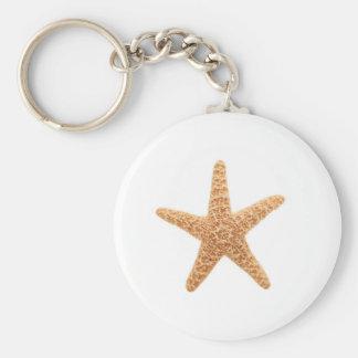 diversión de las estrellas de mar llavero redondo tipo pin