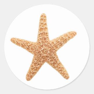 diversión de las estrellas de mar pegatina redonda