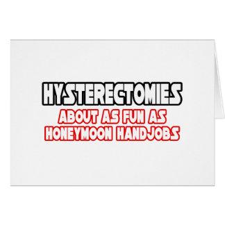 Diversión de las histerectomias… no tarjetón